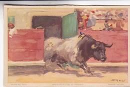 SALIDA DEL TORIL. SORTIE DE LA LOGE DE TAREAUX. JDP. TOROS, BULLS CORRIDAS. CIRCA 1900s - BLEUP - Corrida