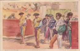 SALIDA DE CUADRILLAS. SORTIE DES CUADRILLAS. JDP. TOROS, BULLS CORRIDAS. CIRCA 1900s - BLEUP - Corrida