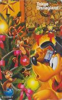 Télécarte Japon / 110-208839 - DISNEY DISNEYLAND - NOEL Sapin Ecureuil - CHRISTMAS Japan Phonecard - Disney