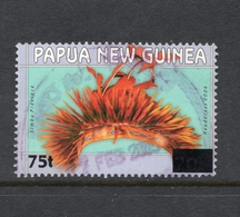 2005 Overprint 75t PAPUA NEW GUINEA SIMBU PROVINCE HEADRESS- Surcharged On Value 70t VERY FINE USED - Papouasie-Nouvelle-Guinée