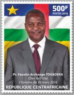 Z08 CA1802local01a Central Africa 2018 Faustin Archange Touadera MNH ** Postfrisch - Centrafricaine (République)