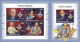 Z08 NIG18616ab Niger 2018 Freemasons MNH ** Postfrisch Set - Niger (1960-...)