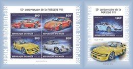 Z08 NIG18624ab Niger 2018 Porsche 12 MNH ** Postfrisch Set - Niger (1960-...)
