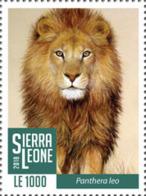 Z08 SRL1802local01a Sierra Leone 2018 Lions MNH ** Postfrisch - Sierra Leone (1961-...)