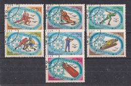 AFGHANISTAN  1984    GIOCHI OLIMPICI INVERNALI   YVERT 1143-1149   USATA   XF - Afghanistan