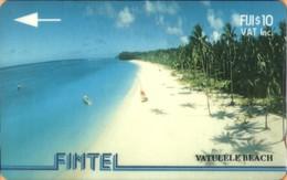 Fiji - GPT, Fintel, 4CWFA, Vatulele Beach, 10$, 8,500ex, 1993, Used - Fiji