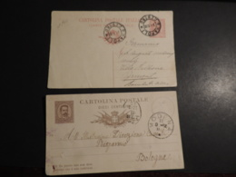 ITALIE  LOT DE 2 ENTIERS POSTAUX CARTE POISTALE   MODENA  NAPOLI - 1900-44 Victor Emmanuel III