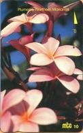 Northern Mariana Islands - NMI-MT-15, Mtc, Plumeria, Northern Marianas, Orchids, Flowers, 10U, 1996, Used - Northern Mariana Islands