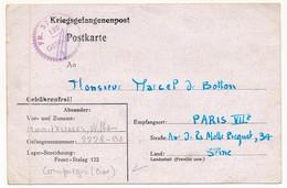 FRANCE - Carte Depuis Le FRONT-STALAG 122 De COMPIEGNE - Cachet FR. STALAG 122 Geprüft - Guerre De 1939-45