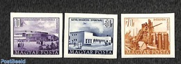 Hungary 1953 Definitives 3v, Imperforated, (Unused (hinged)), Science - Education - Various - Industry - Sport - Sport ( - Neufs