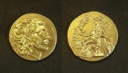 COPIE - Pièce Plaquée OR Sous Capsule ! ( GOLD Plated Coin ) - Grèce - Drachme Alexandre III 336-323 BC - Grecques