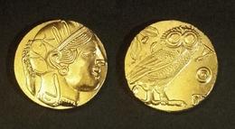 COPIE - Pièce Plaquée OR Sous Capsule ! ( GOLD Plated Coin ) - Grèce - Tetradrachme D'Athènes 500-320 BC - Grecques
