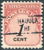 USA Territory Of Hawaii Local Precancel HAUULA Oahu Island Vorausentwertung Timbre Préoblitéré Postage Due - Hawaii