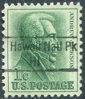 USA State Of Hawaii Local Precancel NATIONAL PARK 1c Andrew Jackson Vorausentwertung Timbre Préoblitéré - Hawaii