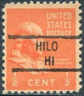 USA Territory Of Hawaii Local Precancel HILO Vorausentwertung Timbre Préoblitéré - Hawaii