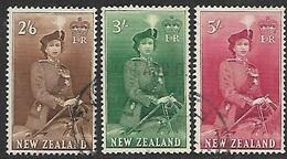 New Zealand   1953  Sc#298B-300    2sh6/3sh/5sh  Used  2016 Scott Value $13 - New Zealand
