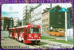 Optical Phonecard, P485  Coca Cola Tram,mint - Belgique