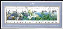 NEW ZEALAND, 1990 ORCHIDS MINISHEET MNH - New Zealand