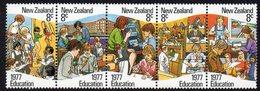 NEW ZEALAND, 1977 EDUCATION STRIP 5 MNH - New Zealand