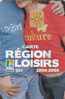 CARTE REGION LOISIRS 25E  2004-2005..REGION HAUTE NORMANCIE - France