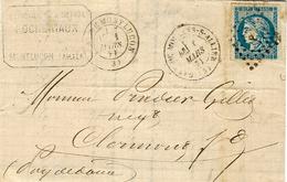 1871- Lettre De Gare De Montluçon ( Allier )  Affr. N°45 Report III  Pour Clermont - Marcophilie (Lettres)