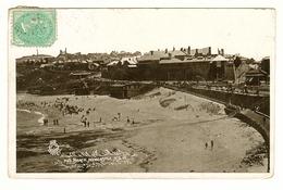 Australia, NSW, Hunter, Newcastle Beach, 355 Numeral Postmark & STOCKTON CDS, Underpaid & Taxed, Printed Postcard - Newcastle