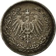 Monnaie, GERMANY - EMPIRE, 1/2 Mark, 1909, Munich, TTB, Argent, KM:17 - [ 2] 1871-1918: Deutsches Kaiserreich