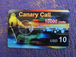 Canary Call Prepaid Phonecard, Bird,face Value USD10,used - Hong Kong
