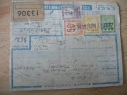Timbre Colis S N C F Sncf 50 F 2 F 100 F Et 200 F Riom Es Montagne Sur Etiquette - Marcophilie (Lettres)