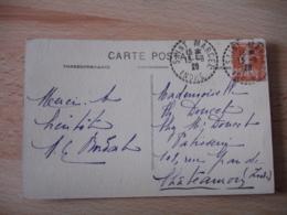 Saint Marcel Indre Facteur Boitier Obliteration Sur Lettre - Poststempel (Briefe)