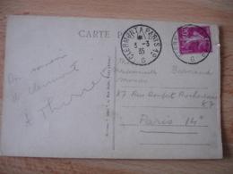 Poste Ferroviaire Clermont A Paris 1 Er G Cachet Ambulant Convoyeur Poste Ferroviaire Sur Lettre - Poststempel (Briefe)