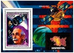 Zentralafrika / Centrafricaine: 'Albert Einstein, 1984' / 'Space Probe - Venus', Mi. BL 287 A; Yv. 633; Sc. 660 ** - Espace