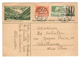 12603 - ENTIER  AVEC  ILLUSTRATION POUR LA FRANCE - Zwitserland
