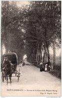 SAINT GERMAIN LES BELLES AVENUE DE LA GARE ET DE MAGNAC BOURG 1908 TBE - Saint Germain Les Belles