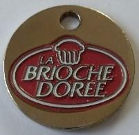 Jeton De Caddie - BRIOCHE DOREE - Buvez COCA COLA - En Métal - - Trolley Token/Shopping Trolley Chip