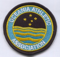 Athletics Athletisme - Oceania Association Federation, Patch, D 80 Mm - Ecussons Tissu