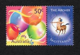 2003 ZODIAC - SAGITTARIUS THE ARCHER 50c MNH Balloon Stamp With RIGHT MARGIN TAB - Issued In AUSTRALIA - 2000-09 Elizabeth II