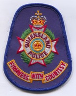 Queensland  Police Polizei - Australia, Patch, D 95 X 75 Mm - Police & Gendarmerie