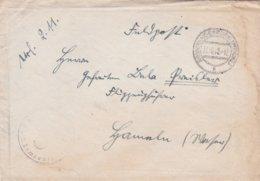 German Feldpost WW2: Flugzeugführerschule C 5 In Neubrandenburg P/m Neubrandenburg 27.10.1940 - Letter Inside  (0020) - Militaria