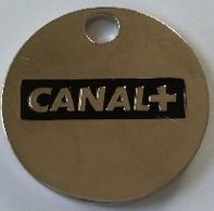 Jeton De Caddie - CANAL+ - LE BOUQUET - En Métal - Neuf - - Trolley Token/Shopping Trolley Chip