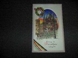 Guerre ( 338 ) Warschau 1915 Oorlog   - Hold To Light Tenir à La Lumière Durchscheinend - Carte Allemand Kriegspostkarte - Hold To Light