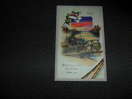Guerre ( 340 ) Libau 1915 Oorlog   - Hold To Light Tenir à La Lumière Durchscheinend - Carte Allemand Kriegspostkarte - Contre La Lumière