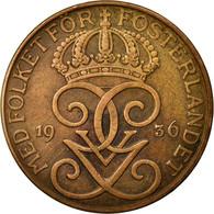 Monnaie, Suède, Gustaf V, 5 Öre, 1936, TTB, Bronze, KM:779.2 - Suède