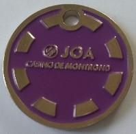 Jeton De Caddie - JEUX - JOA - CASINO DE MONTROND (42) - En Métal - Neuf - - Trolley Token/Shopping Trolley Chip