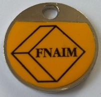 Jeton De Caddie - FNAIM - Immobilier - En Métal - Neuf - - Trolley Token/Shopping Trolley Chip