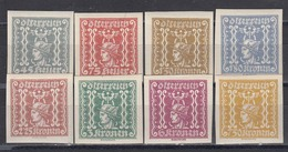 Austria 1921/22 - Zeitungsmarken: Merkurkopf, Mi-Nr. 409/16, MNH** - 1918-1945 1ère République