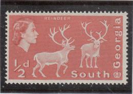 M10 - SOUTH GEORGIA - Yvert 9 ** MNH De 1963 - FAUNE - RENNES - - Géorgie Du Sud