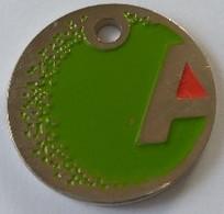 Jeton De Caddie - A - ANTARGAZ - En Métal - - Trolley Token/Shopping Trolley Chip