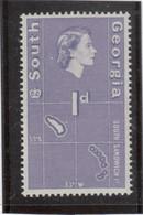 M10 - SOUTH GEORGIA - Yvert 10 ** MNH De 1963 - CARTOGRAPHIE Des Îles Sandwich - - Géorgie Du Sud