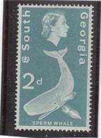 M10 - SOUTH GEORGIA - Yvert 11 ** MNH De 1963 - FAUNE - CACHALOT - - Géorgie Du Sud